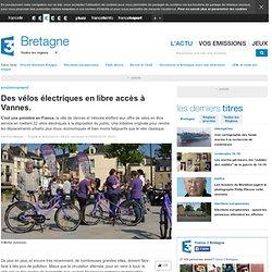 Des vélos électriques en libre accès à Vannes.