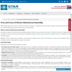 Pros and Cons of Electro Mechanical Assembly