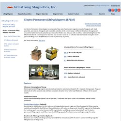 Electro Permanent Lifting Magents (EPLM)