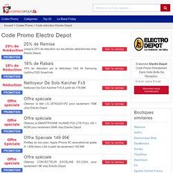Electro Depot → 25% de Rréduction en novembre 2019