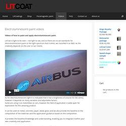 Electroluminescent paint videos ⋆ LitCoat