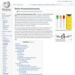 Diode électroluminescente