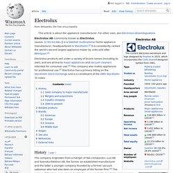 Document 9 : Electrolux