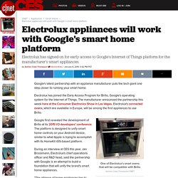 Electrolux appliances will work with Google's smart home platform