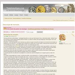 Electrolyse de monnaies. : Conseils et tutoriaux