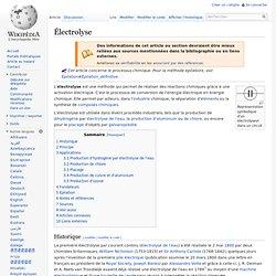 Électrolyse wiki