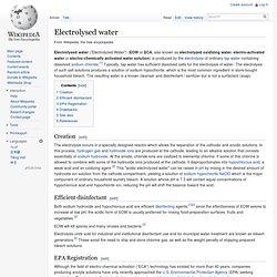 Electrolysed water