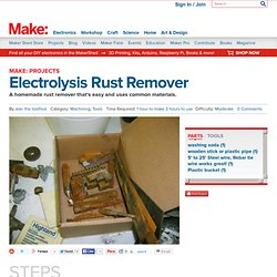Electrolysis Rust Remover