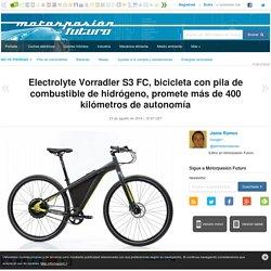 Electrolyte Vorradler S3 FC, bicicleta con pila de combustible de hidrógeno, promete más de 400 kilómetros de autonomía