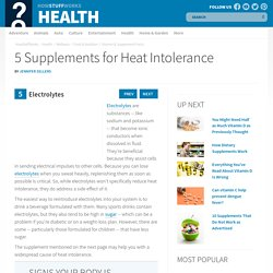 5: Electrolytes - 5 Supplements for Heat Intolerance