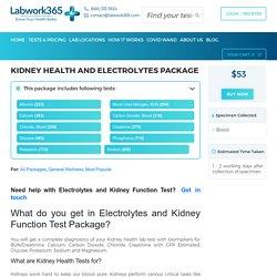 Order Electrolytes & Kidney Function Test Package