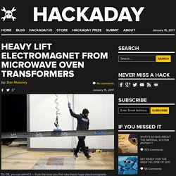 Heavy Lift Electromagnet from Microwave Oven Transformers