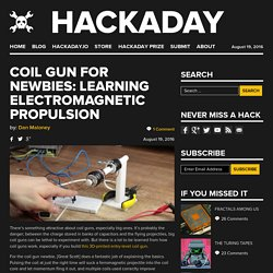 Coil Gun for Newbies: Learning Electromagnetic Propulsion
