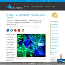 History of Electromagnetic Radiation (EMF) Studies