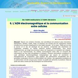 ADN électromagnétique et communication entre cellules