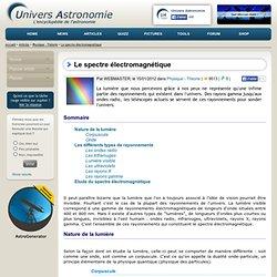 Le spectre électromagnétique - Univers-Astronomie