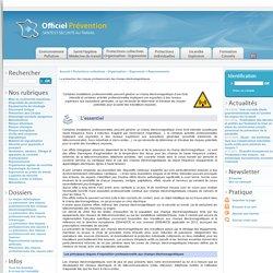 La prévention des risques professionnels des champs électromagnétiques.