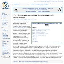Effets des rayonnements électromagnétiques sur le vivant/Préface
