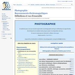 Photographie/Rayonnements électromagnétiques/Définitions et vue d'ensemble
