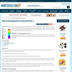 Electromagnetism Experiments