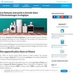 Les français prêts à investir dans l'électroménager écologique
