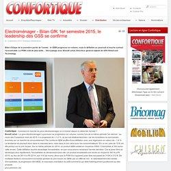 Electroménager - Bilan GfK 1er semestre 2015, le leadership des GSS se confirme