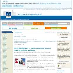 ELECTROMOBILITY – Guiding E... - Information Centre - Research & Innovation