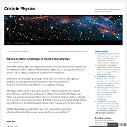 Round-electron challenge to mainstream physics | Crisis-in-Physics