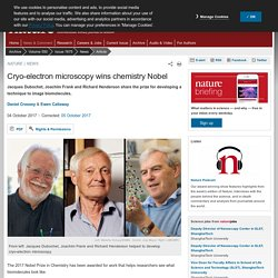 Cryo-electron microscopy wins chemistry Nobel : Nature News & Comment