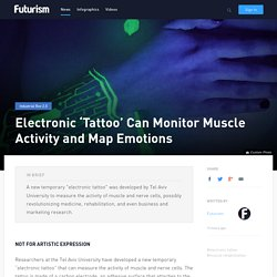 Electronic 'Tattoo' Can Monitor Muscle Activity and Map Emotions