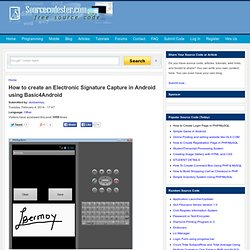 How to create an Electronic Signature Capture in Android using Basic4Android