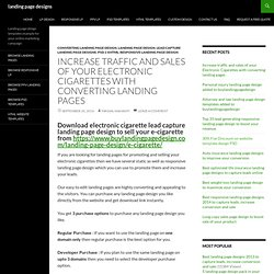 Electronic cigarette lead capture landing page design to sell your product