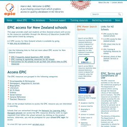 EPIC access for New Zealand schools / no login required if on school network