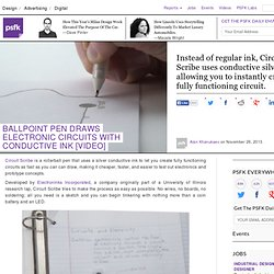Ballpoint Pen Draws Electronic Circuits With Conductive Ink