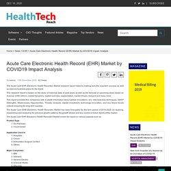 Acute Care Electronic Health Record (EHR) Market by COVID19 Impact Analysis - HealthTechReachHealthTechReach