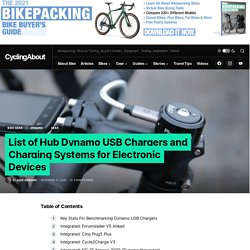 List of Hub Dynamo USB Chargers and Charging Systems for Electronic Devices - CyclingAbout