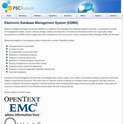 Electronic Database Management System (EDMS)