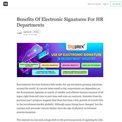 Benefits Of Electronic Signatures For HR Departments