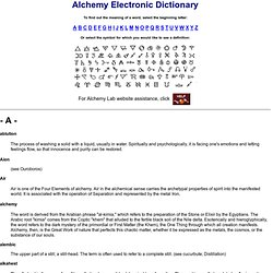 Alchemy Electronic Dictionary: Find Out the Meaning of Arcane Words and Ciphers Instantly!