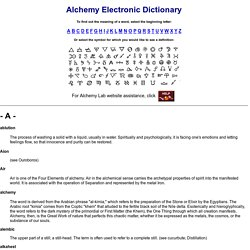 Alchemy Dictionary: Arcane Words and Ciphers