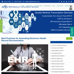 Best Practices for Amending Electronic Health Record Documentation