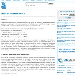 How an Inverter works. - Electronic Circuits and Diagram-Electronics Projects and Design