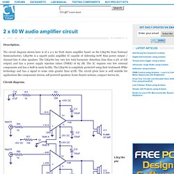 2 x 60 W audio amplifier circuit - Electronic Circuits and Diagram-Electronics Projects and Design