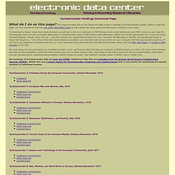 Electronic Data Center : Eurobarometers Data