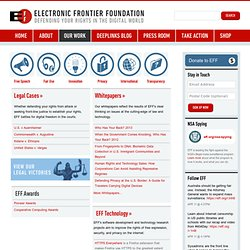 Electronic Frontier Foundation | Defending Freedom in the Digital World