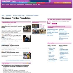 Electronic Frontier Foundation Topics Page