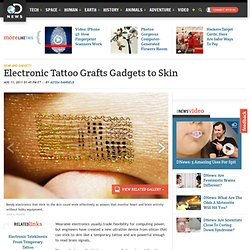 Electronic Tattoo Grafts Gadgets to Skin