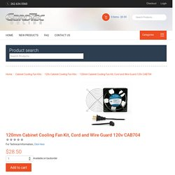 120mm Cabinet Cooling Fan Kit