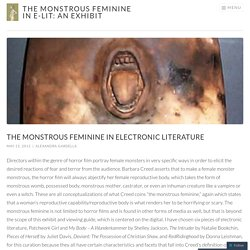 The Monstrous Feminine in Electronic Literature