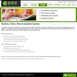 Electronic RTI, PBIS & IEP Goal Monitoring for Students